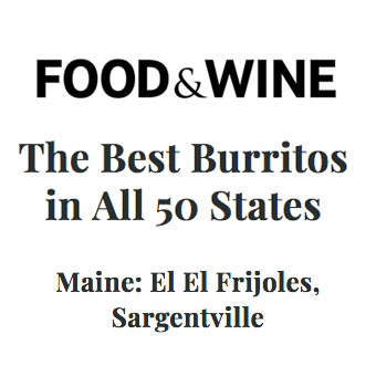 El El Frijoles: Best burrito in Maine from Food and Wine
